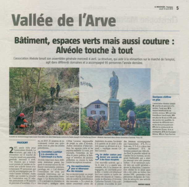 Article Le messager AG Alveole