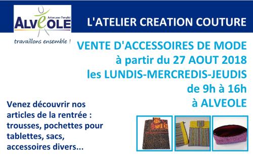 Affiche vente couture à partir du 27 août 2018